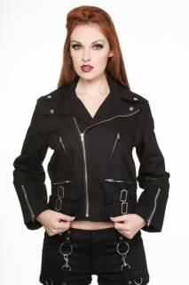 Ladies Biker Zip Jacket