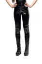 Black Plain Gloss Leggings