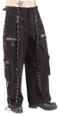 Black & Metall Baggy Pants