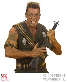 Realistischer Munitionsgürtel Schulter