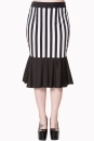 Heart To Heart Midi Skirt blk/wht