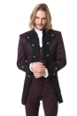 Noble Brocade Jacket bordeaux