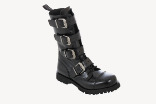 14-Loch 4-Buckle Heavy Boots - Gr. UK 13 / EU 47