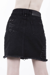Rawked Out Denim Skirt