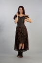 Passion Corset Dress Brown King Brocade