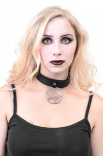 Pentagram Drop Choker - one size