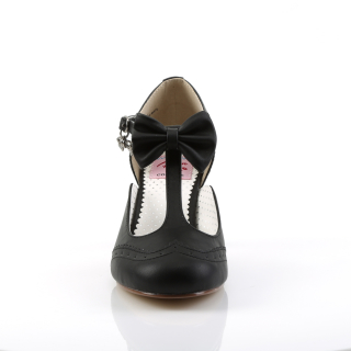 Flapper-11 Blk Faux Leather