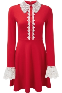Blessed Be Shift Dress (Blood)