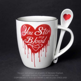 You Stir My Blood Mug And Spoon Set