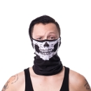 Skull Snood White - one size