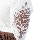 Alaric Long Sleeve Shirt Beige/Brown - Gr.