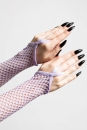Possess Me Fishnet Gloves LILAC - one size