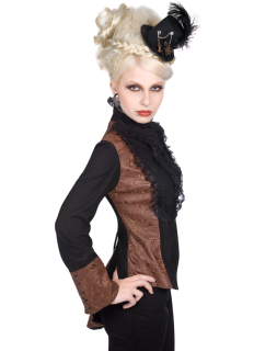 Wing Steampunk Blouse Ornament Black Brown