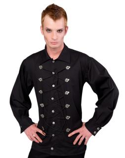Cremate Shirt Fine Denim Black