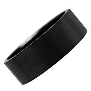 Steel Ring Plain Black