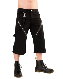 Black Pistol Zip Short Pants Denim