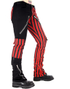 Freak Pants Stripe Denim Black-Red