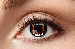 Kontaktlinsen Vampire Fangs - 12 month - 1 Paar