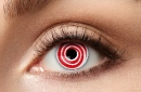 Eye lenses - Red Spiral - 12 month