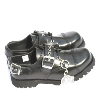 3Hole +2 Buckles Leather Boot