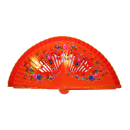 Orange Wooden Flower Fan