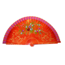 Orange Wooden Fan Painted